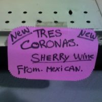 An actual shelftalker from a Minnesota wine retailer.