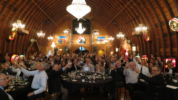 Private wine tasting event for 120 enthusiastic students. Green Acres Event Center, Eden Prairie, Minnesota, 2012.