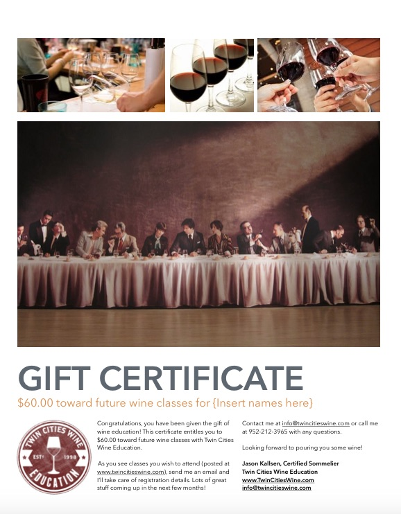 TCWE gift certificate 60