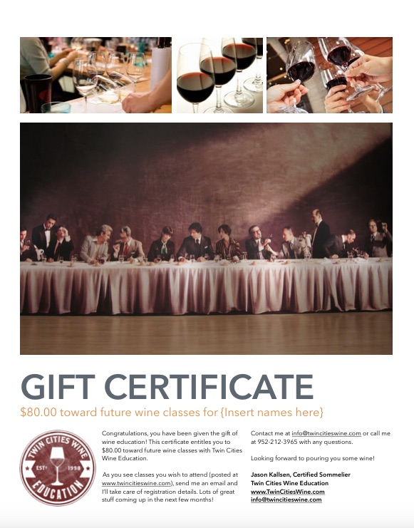 TCWE gift certificate 80