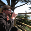 Jason enjoying a glass where the Russian River joins the ocean. Jenner, California.