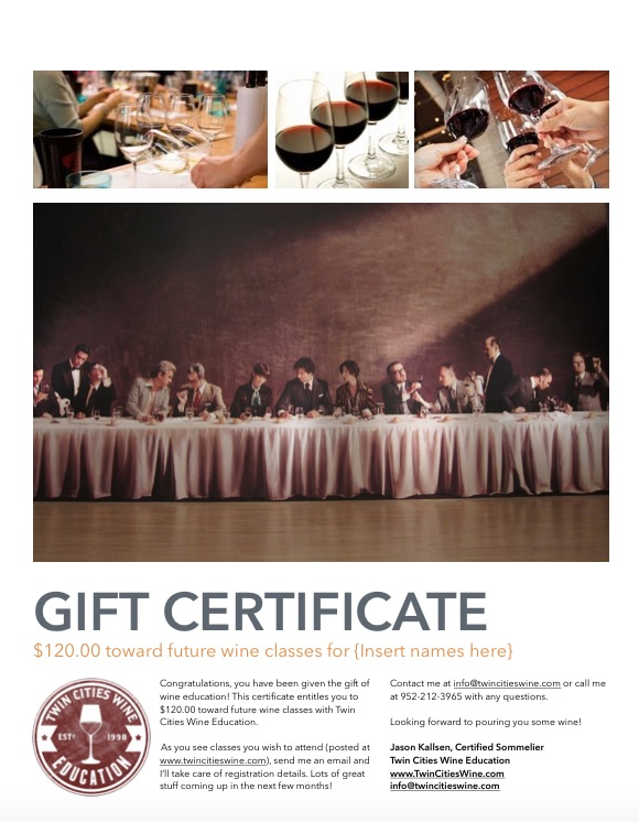 TCWE gift certificate 120
