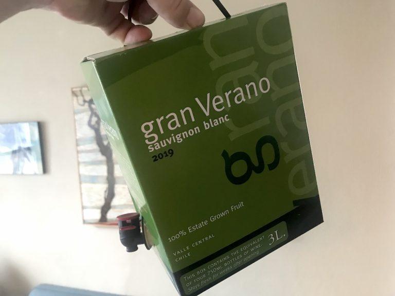 Wines I love: Gran Verano Sauvignon Blanc (best boxed white available)?